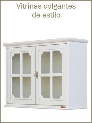 Vitrinas colgantes de madera para comedor o cuarto de estar, muebles colgantes de estilo clásico