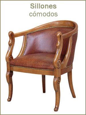 Sillones cómodos, sillón acolchada, sillón de estilo clásico tapizado