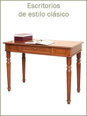 Escritorios de estilo clásico, mesa de despacho en madera para oficina