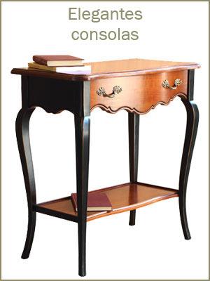 Elegantes consolas de recibidor, consola de madera para pasillo