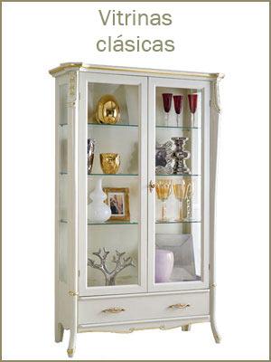 Vitrinas de estilo clásico, vitrina elegante por el cuarto de estar, mueble de salón