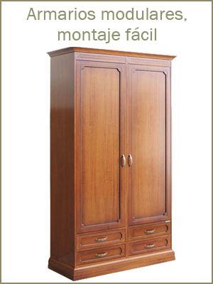Armarios modulares por el dormitorio, armarios de madera por el pasillo