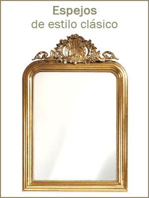 Espejo de estilo clásico, Marcos de madera espejos, espejos de recibidor, dormitorio