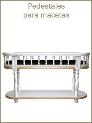 Pedestales para macetas, pedestales en estilo clásico, mueble de estilo clásico
