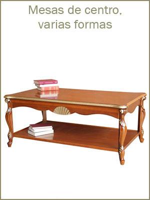 Mesas de centro de varias formas, mesas de centro de madera, mueble de salón