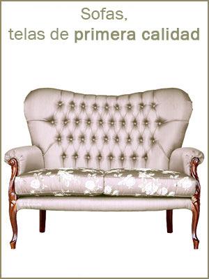 Sofas de estilo clásico, sofas tapizado con telas de primera calidad, sofas de diseño italiano