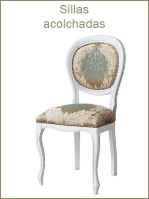 Sillas de comedor, silla acolchada telas de primera calidad, sillas de comedor en madera
