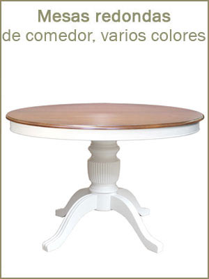 Mesas redondas de madera, mesa de comedor en estilo clásico, mesas extensibles