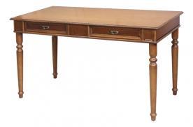 Mesa de despacho en madera estilo clásico con cajones