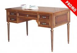 escritorio de madera, escritorio 5 cajones, mesa de despacho