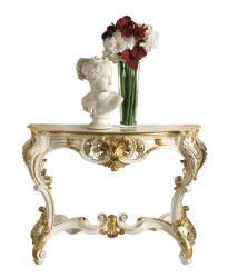consola tallada, consola de madera, consola de recibidor, mesa consola, mesa recibidor, consola pan de oro