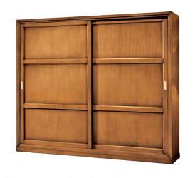 Armario puertas correderas en madera de tilo