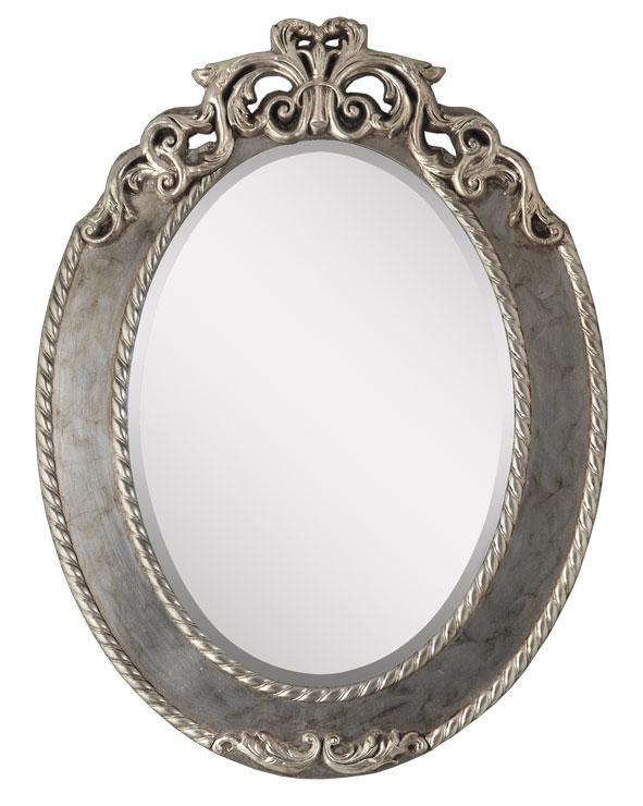 Espejo ovalado oro y plata prixdoo for Espejo ovalado plata