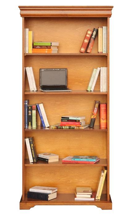 Librería estilo clásico estilo Luis Felipe para salon, despacho, en madera