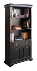 mueble librería, librería en madera, librería alta, mueble de oficina, librería de salón, mueble clásico, Arteferretto, librería negra