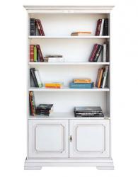 Librería lacada, estantería de madera, Arteferretto, mueble de oficina, librería de salón
