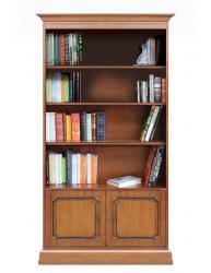 librería alta de madera, mueble de madera, librería de salón, librería de oficina, estantería alta, Arteferretto