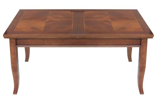 Mesa rectangular extensible tablero con marquetería