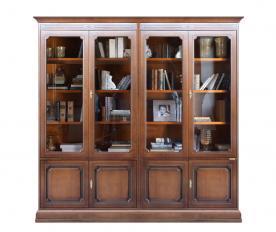 Mueble vitrina por pared estilo clásico