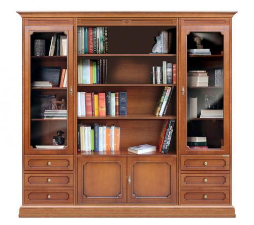 Composición mueble librería en madera