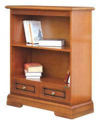 Librería baja con cajón, libreria pequeña, libreria clasica, libreria con estantes