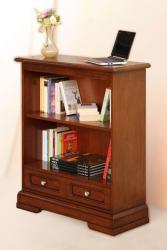 Librería baja, librería en madera, librería de salón, estantería