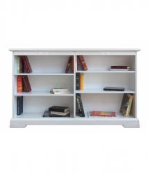 Librería de madera, librería baja, mueble clásico, estantería baja, Estantería de madera, Arteferretto