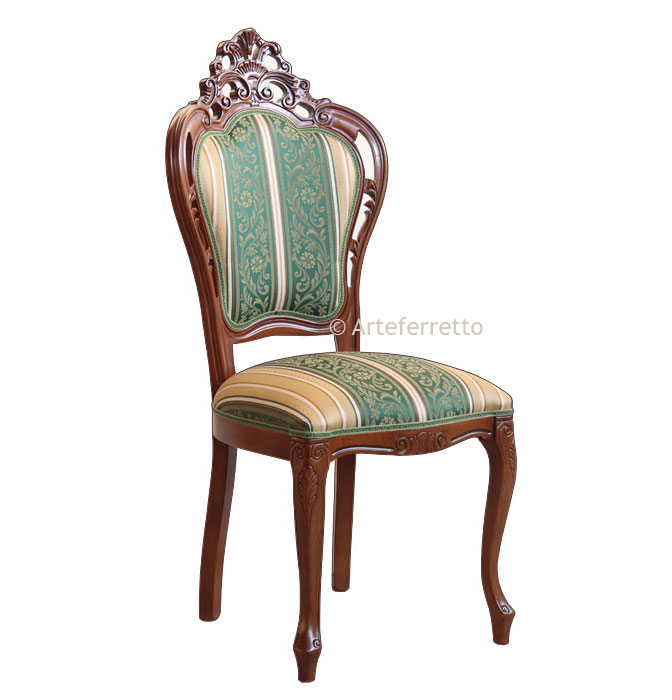 sillas de salón clásicas Silla Clsica De Saln Respaldo Perforado