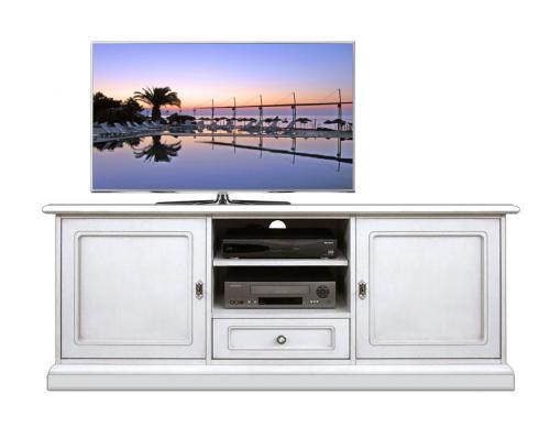 Mueble tv laqueado blanco