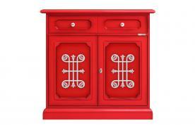 aparador 2 puertas rojo, mueble de madera, mueble aparador, mueble diseño original, mueble de comedor, mueble Arteferretto