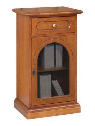 Telefonera clásica puerta redondeada de vidrio
