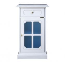 Mueble telefonera con vidrio azul satinado