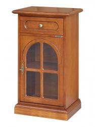 Telefonera clásica con puerta redondeada en vidrio