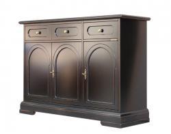 aparador color negro, Arteferretto mueble, aparador de madera, mueble de madera, madera