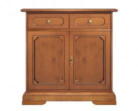 Aparador en madera estilo clasico 2 puertas 1 cajon de artesanado italiano