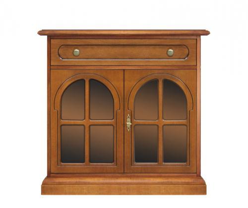 Aparador 2 puertas vitrinas en madera