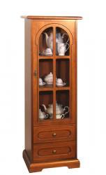 vitrina ahorra espacio, mueble vitrina, mueble de madera, vitrina con cajones, Arteferretto
