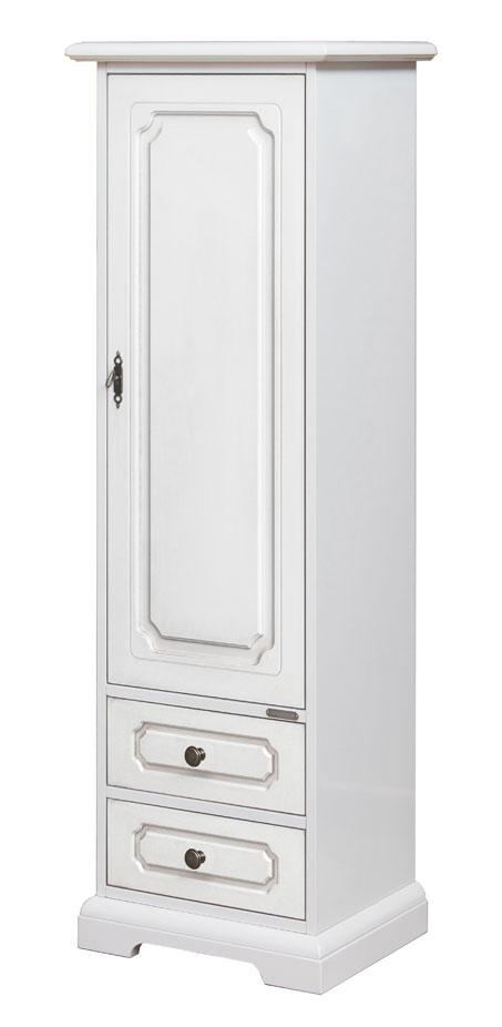 Armario 1 puerta laqueado blanco en madera prixdoo - Armario madera blanco ...