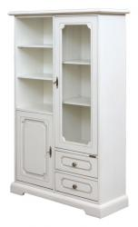 Vitrina de madera, mueble vitrina de comedor, vitrina de salón, mueble de Arteferretto, mueble de madera blanco