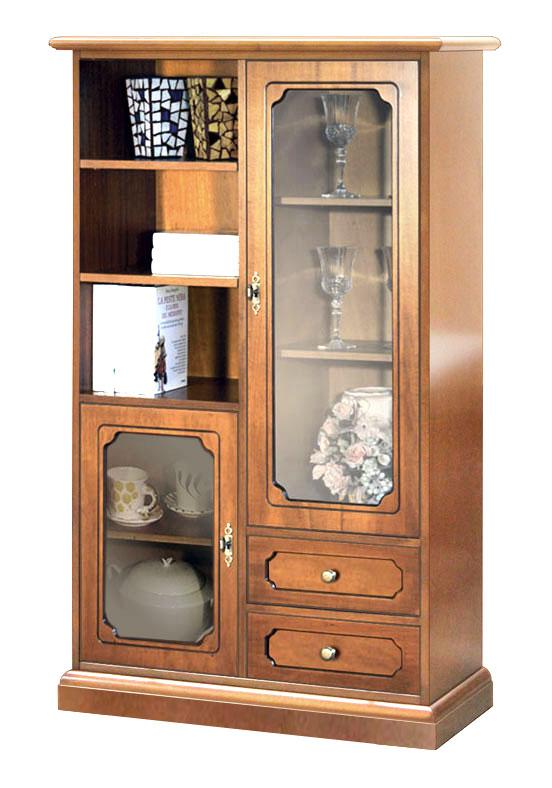 Mueble vitrina de sal n mueble de comedor en madera con - Vitrinas de madera para comedor ...