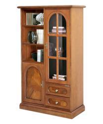 vitrina de saló, mueble de comedor, mueble de madera, muebles de Arteferretto, vitrinas, mueble de raíz de nogal