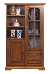 vitrina multifuncional, vitrina de madera, mueble de madera, mueble de salón, mueble Arteferretto, mueble artesanal