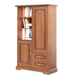 armario modular en madera puertas, vanos y cajones