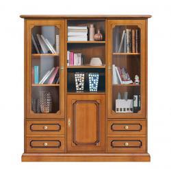 mueble vitrina de salón, mueble de madera, mueble vitrina, vitrina estilo clásico, mueble de Arteferretto, mueble artesanal, vitrina de cuarto de estar