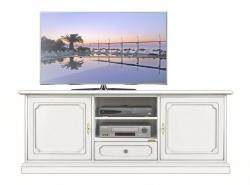 Mueble tv acabado blanco en madera artesanado veneciano