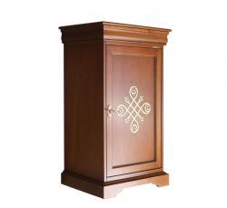 Mueble aparador estilo Luis Felipe en madera 1 puerta con friso