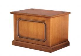 Caja de almacenaje por pellet estructura clásica y madera