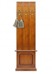 perchero de pared, mueble de madera, perchero de madera, estilo clásico,