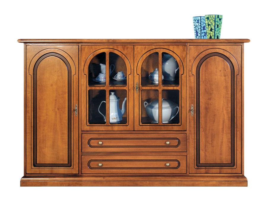 Loja De Artesanato Nos Estados Unidos ~ Aparador vitrina de madera para cocina o salón Prixdoo