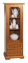 vitrina ahorra espacio, mueble vitrina, vitrina de madera, vitrina artesanal, vitrina de comedor, mueble Arteferretto